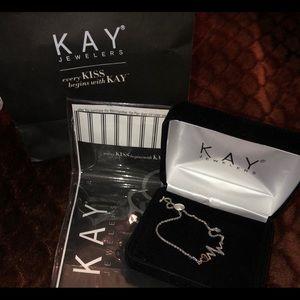 Kay's Jewelry: 2 tone heartbeat slide bracelet